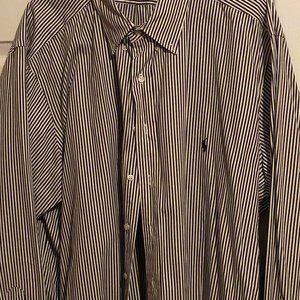 Black & White Button Down Long sleeve Ralph Lauren
